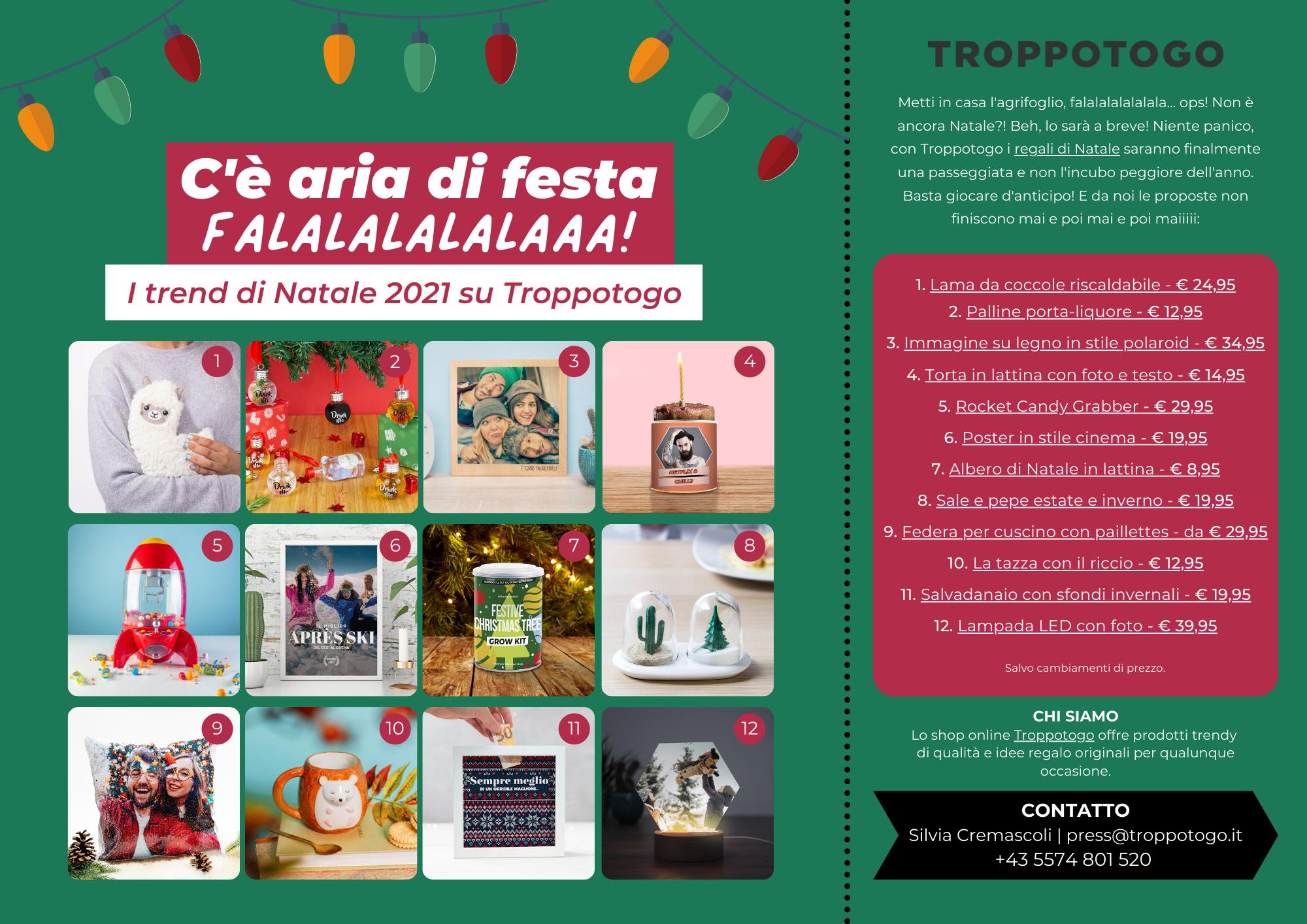 Comunicato Stampa Troppotogo - I trend di Natale 2021