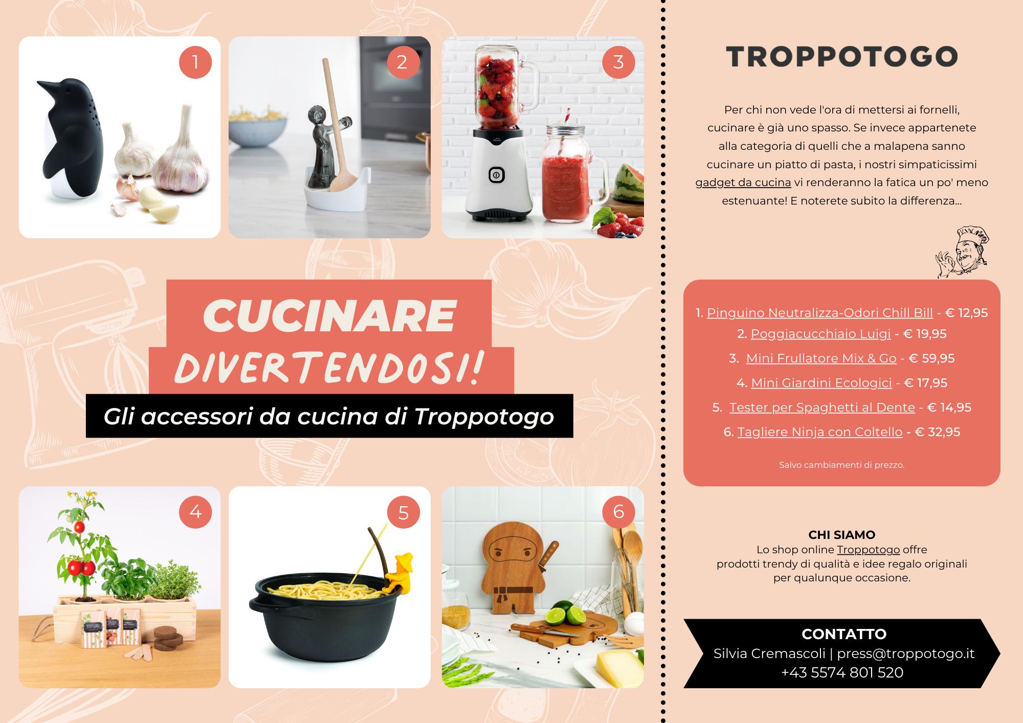 Comunicato Stampa Troppotogo - Cucinare Divertendosi - Settembre 2021